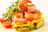 Salade met garnalen — Stockfoto