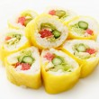 Vegetarian sushi — Stock Photo