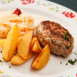 Stock Photo: Cutlet with potatoes