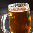 Glass of fresh lager beer — Stock Photo