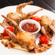 Stock Photo: Baked quail