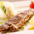 Fish with rice — Foto de Stock