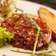 Beef tartar — Stock Photo