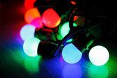 Yılbaşı lambaları — Stok fotoğraf
