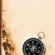 Compass on vintage paper — Stock Photo