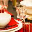 Decorated christmas table — Stock Photo #36854343