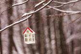 Lantern in the snow — Foto Stock