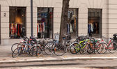Bikes parked in Stockholm — Stock Photo