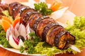 Kebab on skewers — Stock Photo