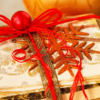 Stock Photo: Gift wrapped books for Christmas