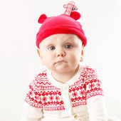 Funny boy in nice christmas costume — Foto Stock
