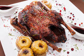 Christmas roast goose — Stock Photo