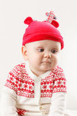 Funny boy in nice christmas costume — Foto de Stock