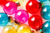 Colorful Christmas balls — Stock fotografie