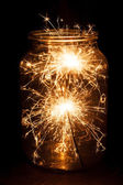 Christmas and newyear party sparkler — Stock Photo