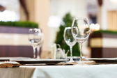 Tabellen instellen voor maaltijd — Stockfoto