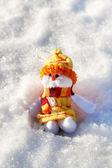 Funny snowman — Stock Photo
