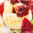 Stock Photo: Camembert with cherry sauce