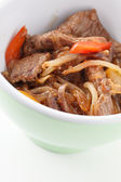 Noodle with beef — Stock Photo