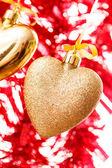 Gold hearts — Stock Photo