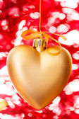 Gold hearts — Stock Photo