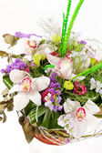 Beautiful flowers in the basket — Stock Photo