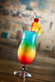 Tropical cocktail in glass — Stock Photo