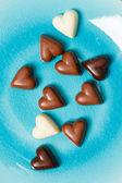 çikolata kalpler — Stok fotoğraf