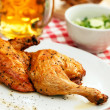 Stock Photo: Chicken with beer