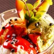 Stock Photo: Ice cream with fruits