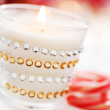 Stock Photo: christmas candle&quot