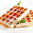 Stock Photo: Belgium waffles