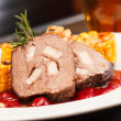Stock Photo: Venison with sauce
