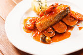 Ryby s omáčkou — Stock fotografie