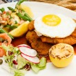 Stock Photo: Wiener Schnitzel with Potatoes