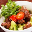 Chicken liver with vegetables — Stock Photo #42159685