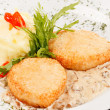 Stock Photo: Chicken cutlet with  potatoes