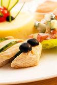 Pollo con purè di patate per menu per bambini — Foto Stock