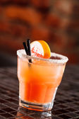 Cocktail with grapefruit — Stock Photo