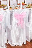 Свадебное урегулирование стола — Стоковое фото