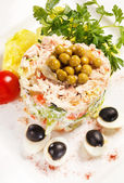 Russian salad — Stock Photo