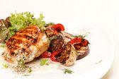 Chicken Steak with vegetables — Stock Photo