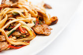 Noodle with meat and vegetables — Stock Photo