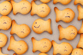 Happy fish cookies — Stock Photo