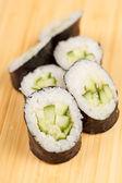 Sushi with cucumber — Stock Photo