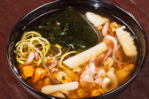Japanese seafood soup — Stock Photo