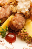 Liver sausage with fruits — Foto Stock