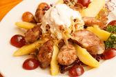 Liver sausage with fruits — Foto de Stock