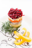 Salad with beetroot — Stock Photo