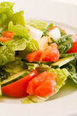 Ensalada de verduras con huevo — Foto de Stock